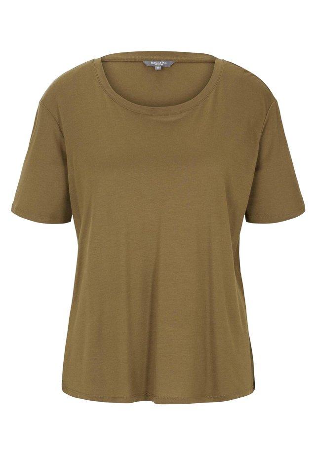 T-SHIRT SCHLICHTES T-SHIRT AUS LYOCELL - T-shirt basique - military olive green