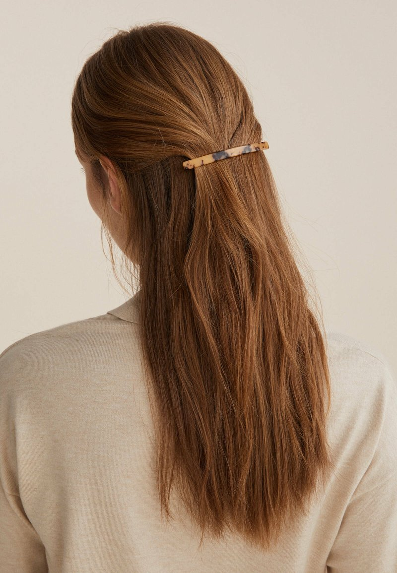 OYSHO - LONG TORTOISESHELL - Hair styling accessory - black