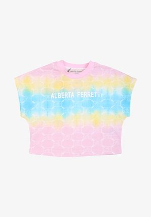 T-shirt con stampa - rosa