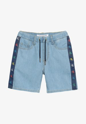 MONOGRAM BOYS - Denim shorts - mid blue