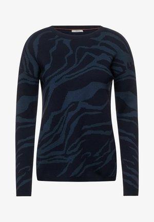 JACQUARD - Sweatshirt - blau