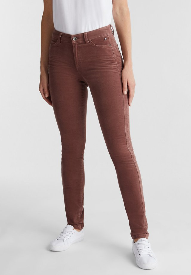 Trousers - dark mauve