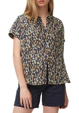 Button-down blouse - multi/odyssey gray