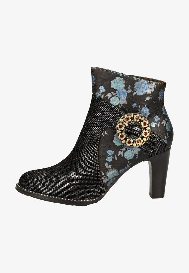 High heeled ankle boots - bleu