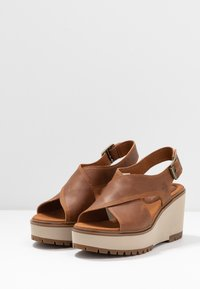 Timberland - KORALYN CROSS BAND - High heeled sandals - rust - 2