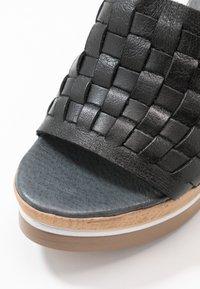Felmini - MARY - Heeled mules - light black - 2