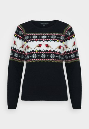 CHRISTMAS ROBIN JUMPER - Strikkegenser - navy
