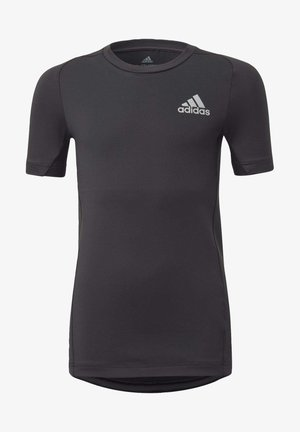ALPHASKIN SPORT COMPRESSION - Print T-shirt - black