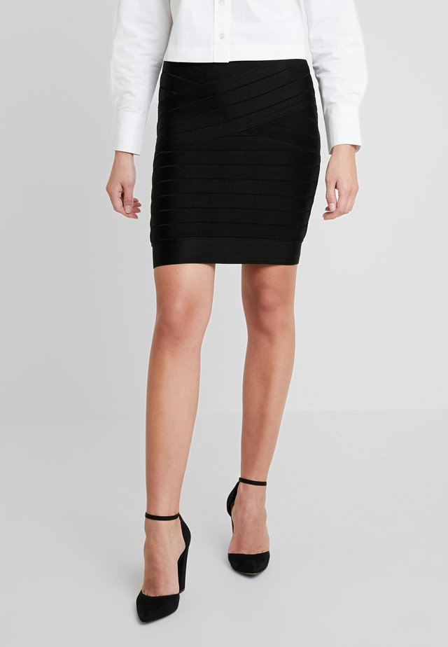 ZASHA - Pencil skirt - black
