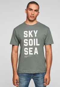 s.Oliver - Print T-shirt - petrol - 0