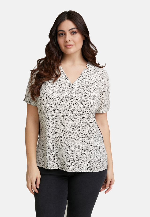 MIT MIKROMUSTER - Blouse - beige