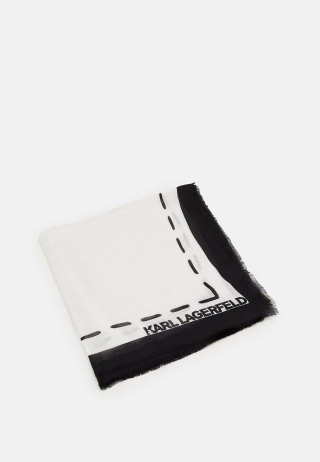 IKONIK GRAFFITI SCARF - Tuch - black/white