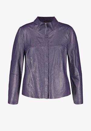 Leather jacket - purple pennant