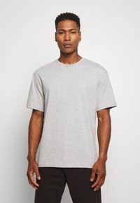 Topman - 3 PACK - Basic T-shirt - black/grey/blue - 3