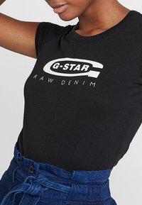 G-Star - GRAPHIC  - Print T-shirt - black - 4