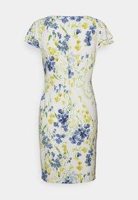 Lauren Ralph Lauren Petite - PICA SHORT SLEEVE DAY DRESS - Jerseykjole - col cream/yellow/multi - 1