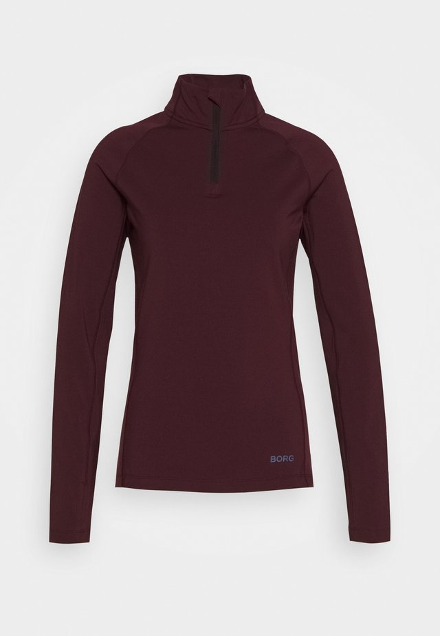 CARIN HALF ZIP - Long sleeved top - winetasting