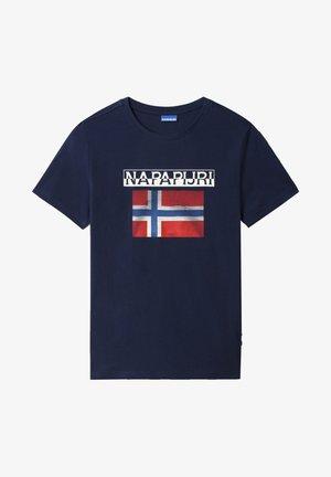 S-SURF FLAG - T-shirt med print - medieval blue