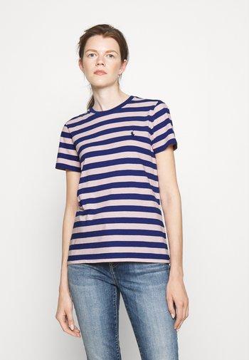 SHORT SLEEVE - Print T-shirt - royal navy/pink sand