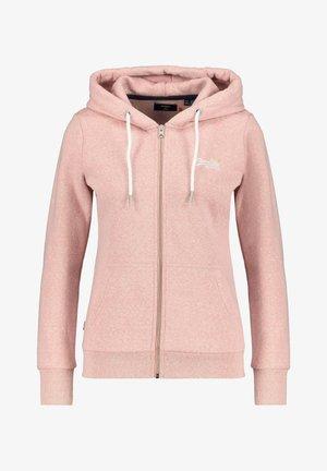 MIT KAPUZE - Zip-up hoodie - rosa