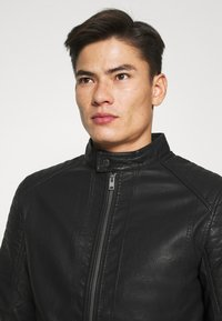TOM TAILOR - Faux leather jacket - black - 3