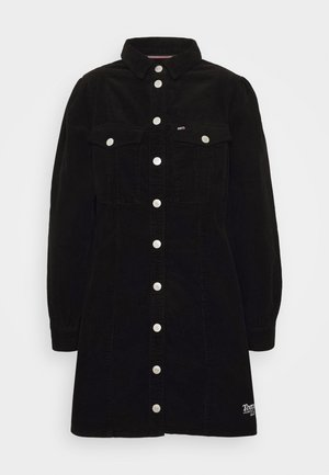 FITTED DRESS - Shirt dress - black