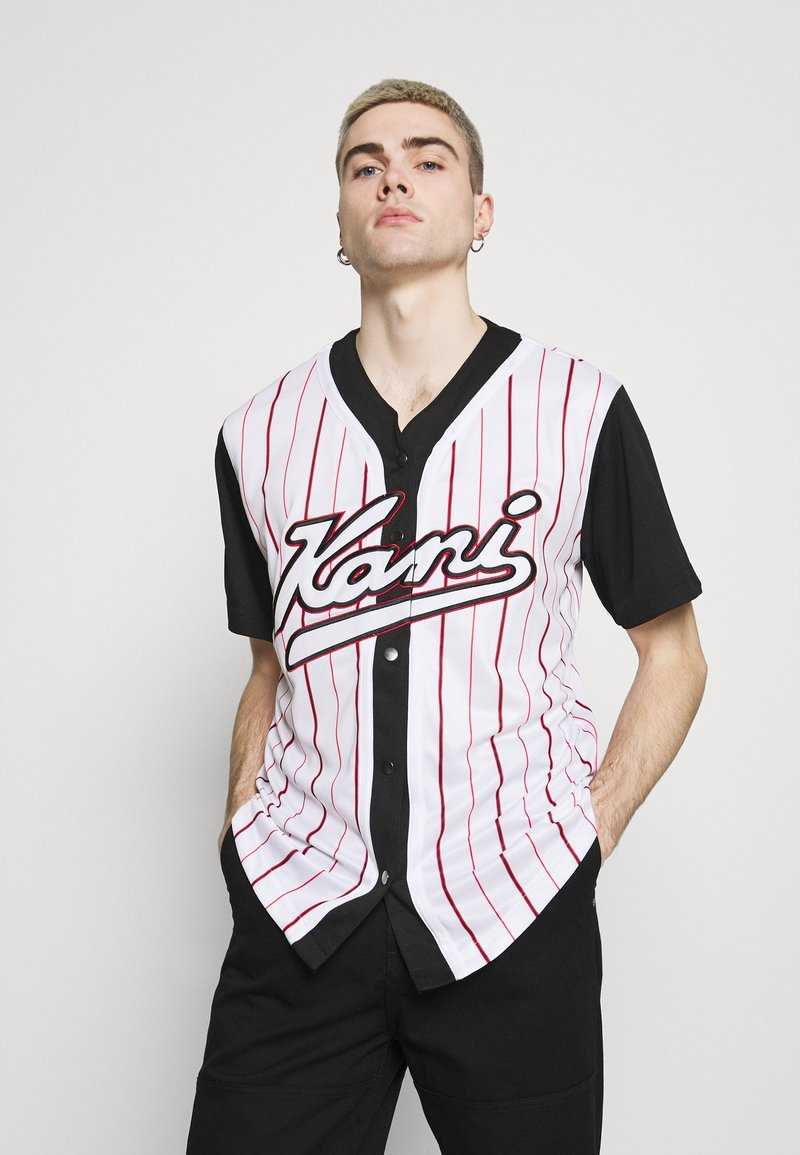 Karl Kani - VARSITY BLOCK BASEBALL - Shirt - black