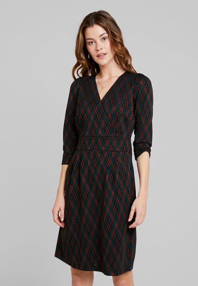 CROSS TULIP DRESS ARGYLE - Jumper dress - black