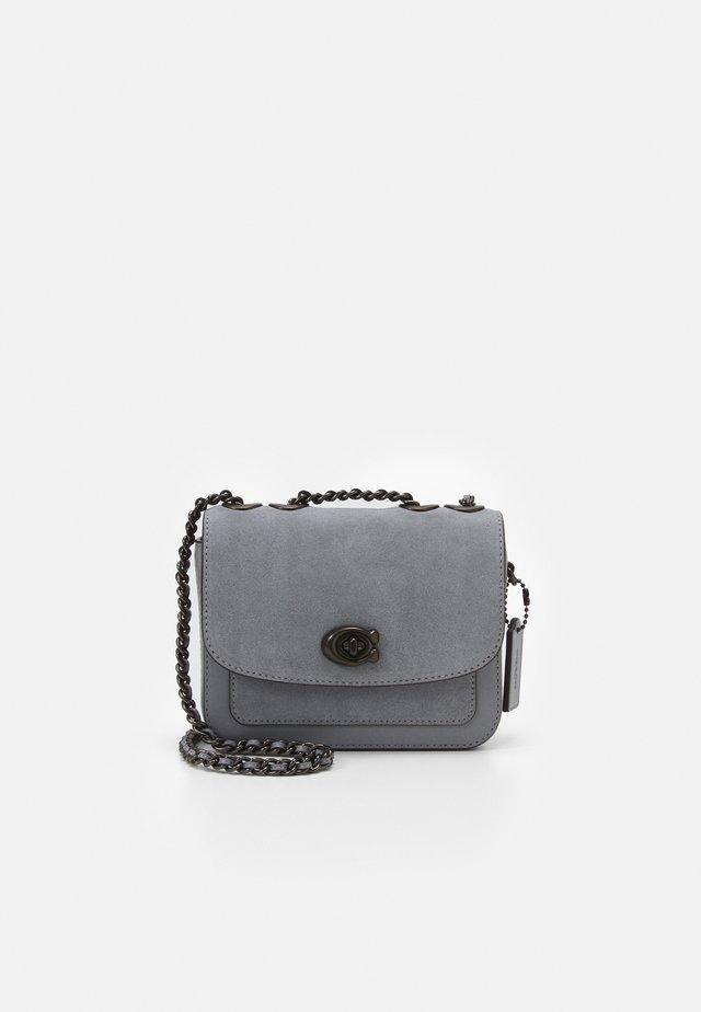 SUEDE POCKET MADISON SHOULDER BAG  - Handbag - granite