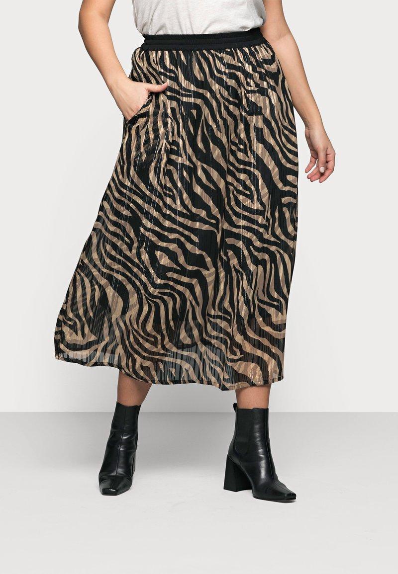 Kaffe Curve - KCVENKE SKIRT - A-line skirt - black