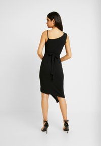 WAL G. - COWL NECK LING ASYMMETRIC MIDI DRESS - Sukienka koktajlowa - black - 3
