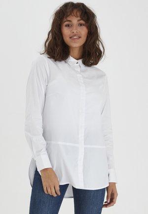 Button-down blouse - optical white