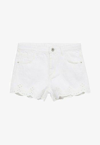 Denim shorts - blanc