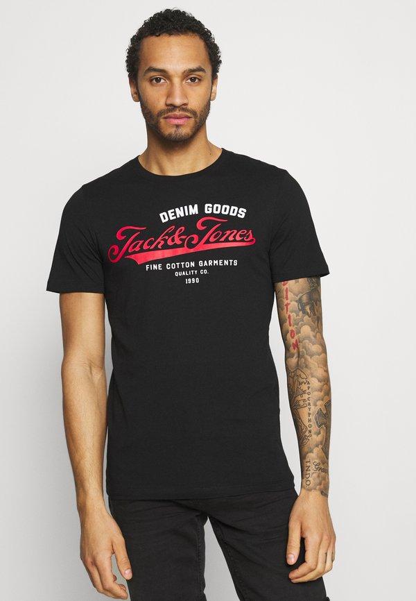 Jack & Jones JJELOGO TEE O NECK 3 PACK - T-shirt z nadrukiem - black/czarny Odzież Męska RNUM