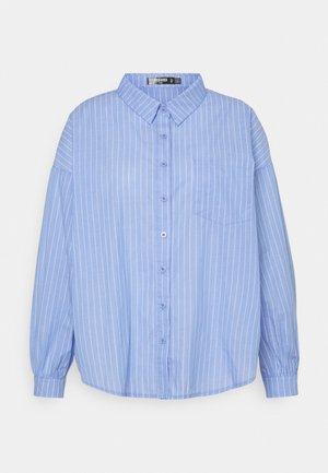 PLUS OVERSIZED SHIRT STRIPE - Camicia - blue