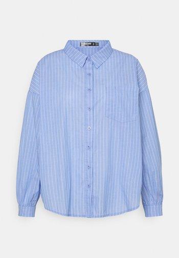 PLUS OVERSIZED SHIRT STRIPE - Skjorte - blue
