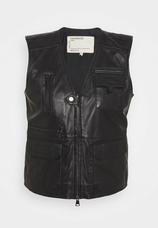 REPORTER - Waistcoat - black