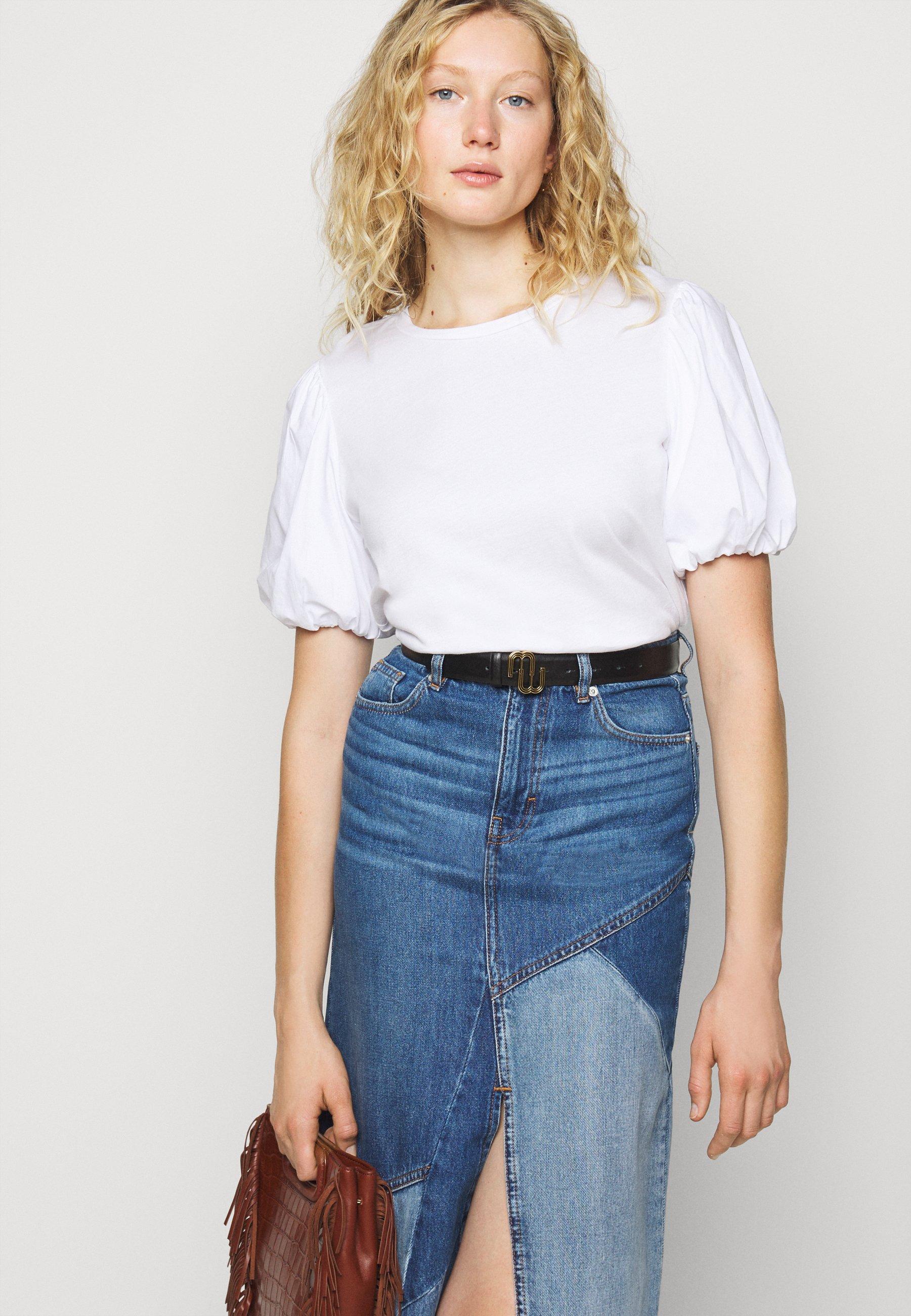 Maje Topline - T-shirts Med Print Blanc/hvit