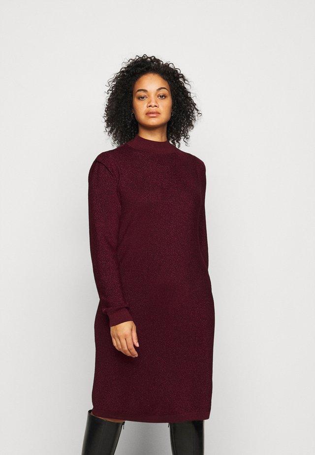 VMALYSSA HIGHNECK DRESS - Jumper dress - cabernet