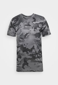 Nike Performance - DRY TEE - Print T-shirt - smoke grey/grey fog - 3