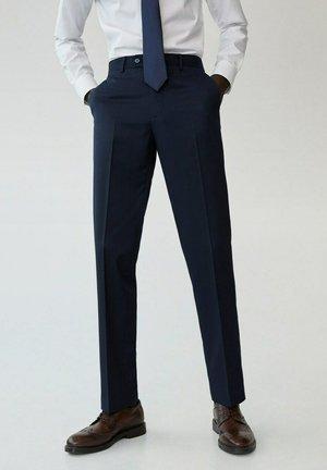 JANEIRO - Suit trousers - dunkles marineblau