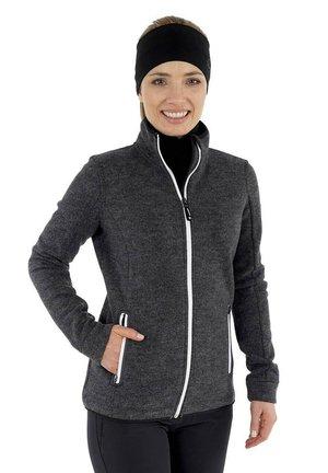SINA - Zip-up sweatshirt - schwarz