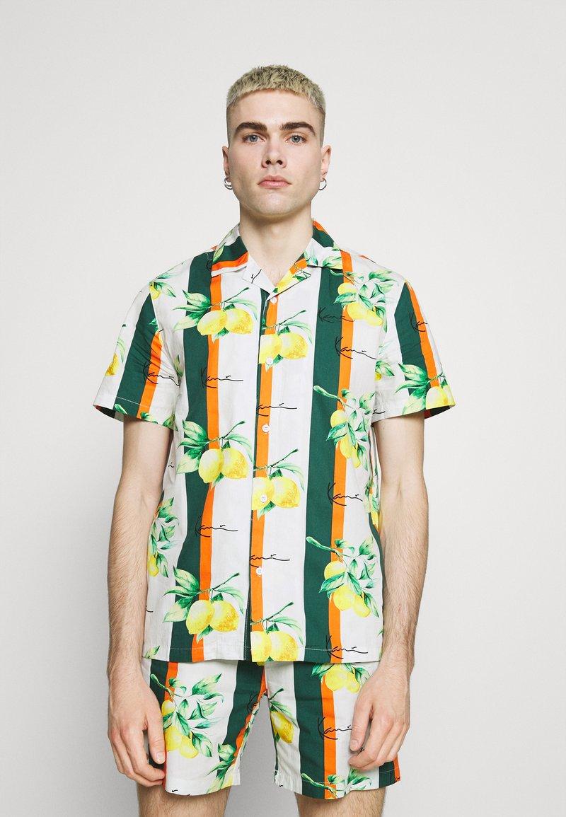 Karl Kani - CHEST SIGNATURE RESORT - Shirt - white