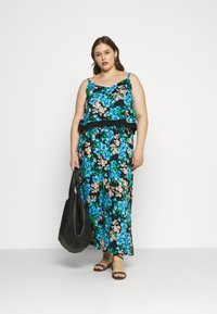 Simply Be - DOUBLE LAYER MAXI DRESS - Maxi šaty - green paisley - 1