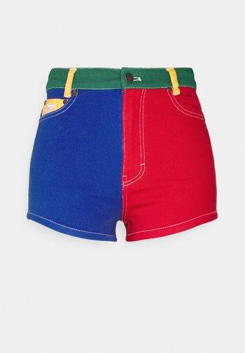 BLOCK - Denim shorts - multicolor