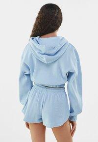 Bershka - MIT WAFFELSTRUKTUR - Shorts - dark blue - 2