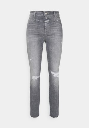 PUSHER - Jeansy Skinny Fit - mid grey