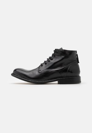 Lace-up ankle boots - todi washed black