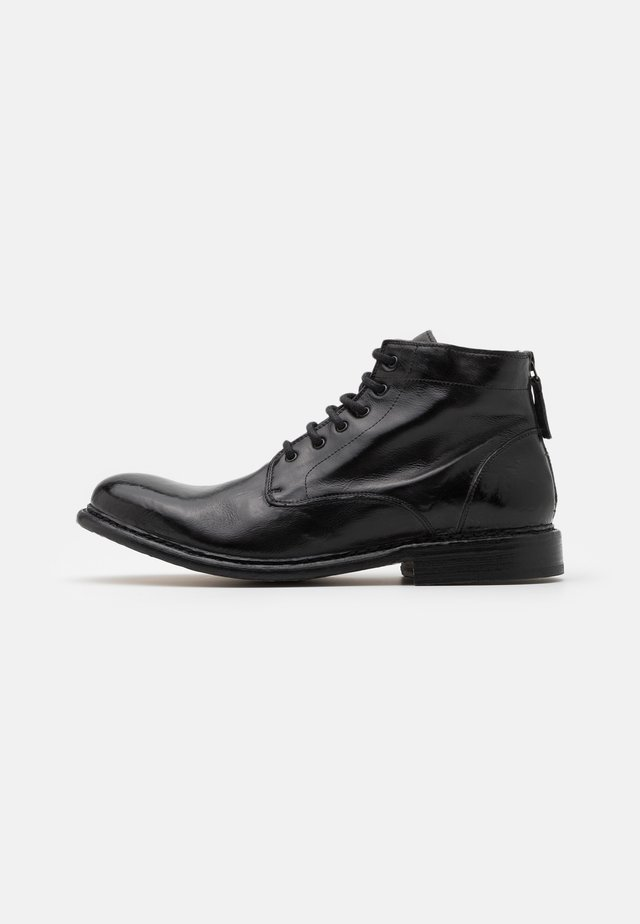 Schnürstiefelette - todi washed black