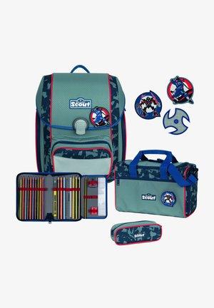 SET - Schooltas set - blue ninja